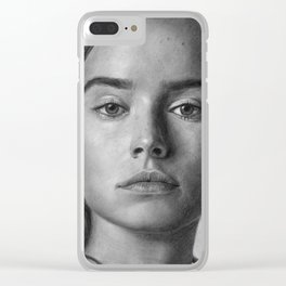 Daisy Ridley Portrait Clear iPhone Case