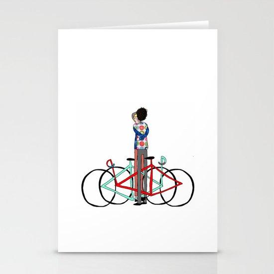 BIKE LOVE - bike hugging Stationery Cards