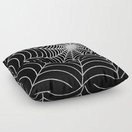 Spiderweb | Silver Glitter Floor Pillow