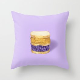 PB & Jelly Beans Throw Pillow
