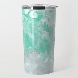 Teal Marble Travel Mug