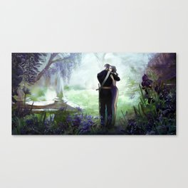 In your arms - Love embrace before departure - couple tight hug Canvas Print