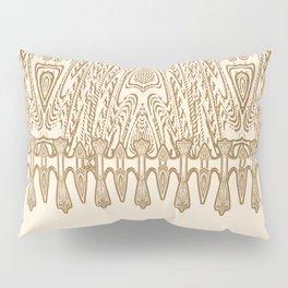 Sepia Macramé Arrowhead Chenille Lace Pattern Pillow Sham