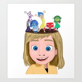 Inside Out your brain Art Print