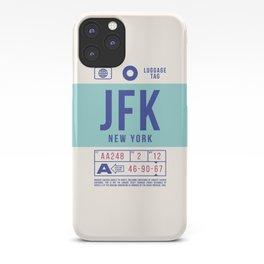 Baggage Tag B - JFK New York John F. Kennedy USA iPhone Case