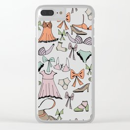 Getting dressed Clear iPhone Case