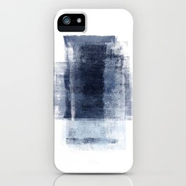 Just Blue and White 2 iPhone Case