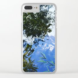 Watercolor Reflection Clear iPhone Case