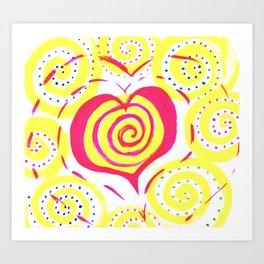 heart vibes Art Print