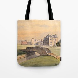 Saint Andrews Golf Course Scotland 18th Hole Tote Bag
