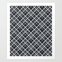 Squares and rectangles under the slope, checkered pattern. Art Print