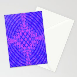 Pink and Blue Kaleidoscope Fractal Stationery Cards