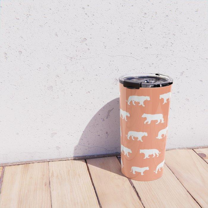 White Tigers - Pattern Travel Mug