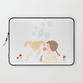 Blowing Bubbles Laptop Sleeve