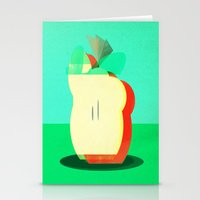 apple Stationery Cards featuring Apple by Amelia Senville