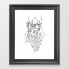 Thranduil Cat Framed Art Print