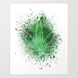 Pot Leaf Space Dust Art Print