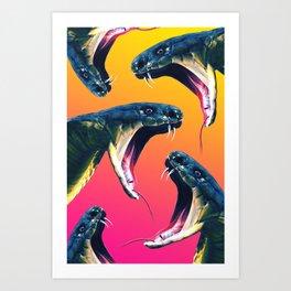 Snake attack Art Print