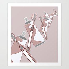 Brush 'Em Art Print