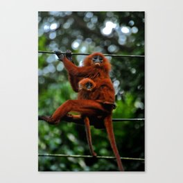 Mom and Kid Canvas Print