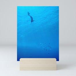 Dive through the rays of sunlight Mini Art Print