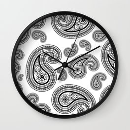 Paisley pattern Wall Clock