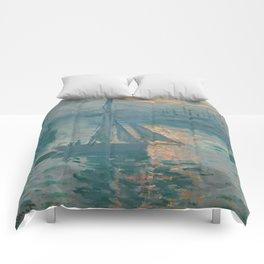 Claude Monet - Marine Sunrise, 1873 Comforters