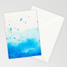 Watercolor abstract blue color no.07 Stationery Cards