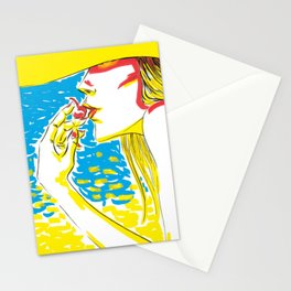 summer girl 2 Stationery Cards