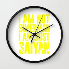 NOT SUPERMAN BUT SAIYAN Wall Clock