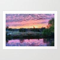 Monet Inspired Sunrise Art Print