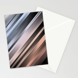 Abstract Diagonal Lines Stationery Cards