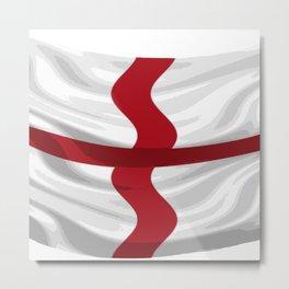 Flag Of England St George Cross Metal Print