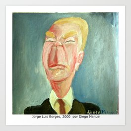 Jorge Luis Borges by Diego Manuel Art Print