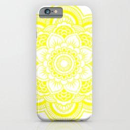 Illuminating Yellow & White Mandala iPhone Case
