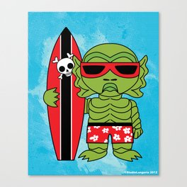 Surfin Swampy Canvas Print