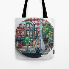 The Corner Of Market And Main  Tote Bag
