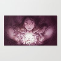 beauty and the beast Canvas Prints featuring Beauty / Beast by Nilah Magruder