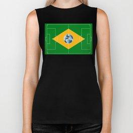 Brazil football field Biker Tank