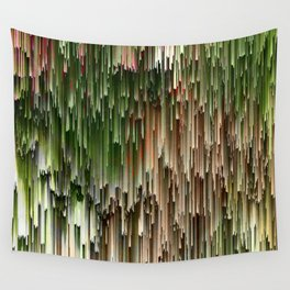 Ever Green Cascade Abstract Wall Tapestry