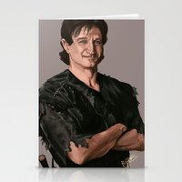 robin williams Stationery Cards featuring Robin Williams by MagnoliaRuby