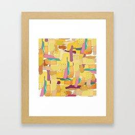 Yellow Hands Framed Art Print