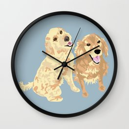 Libby and Apollo Wall Clock