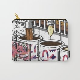 """Coffee Machine """"Visual Toy"""" Illustration Branding Carry-All Pouch"""