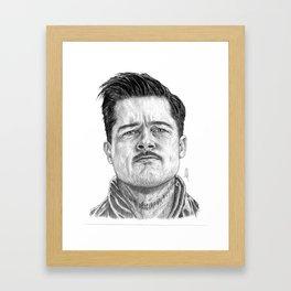 Aldo Raine Portrait Framed Art Print