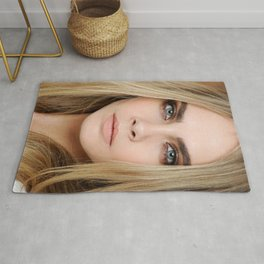 cara delevingne beautiful model  Rug