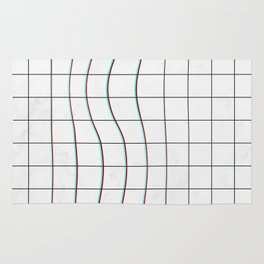 Square Glitch Pattern Rug