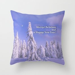 Merry Christmas and a Happy New Year! Edit Throw Pillow