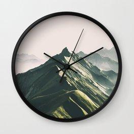 Green Mountains Wall Clock