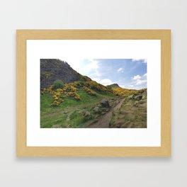 Holyrood park Framed Art Print